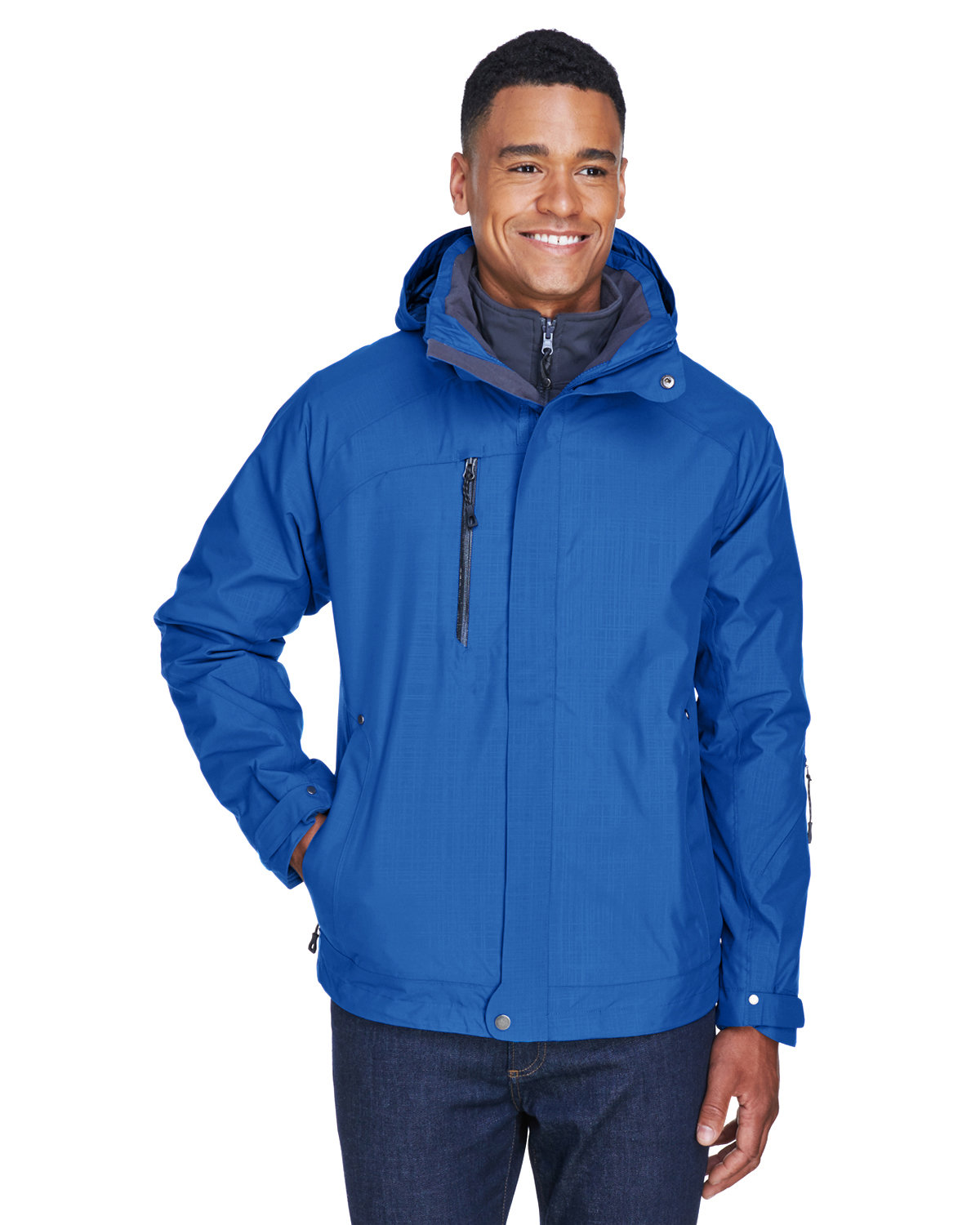 North End Men's Caprice 3-in-1 Jacket with Soft Shell Liner NAUTICAL BLUE