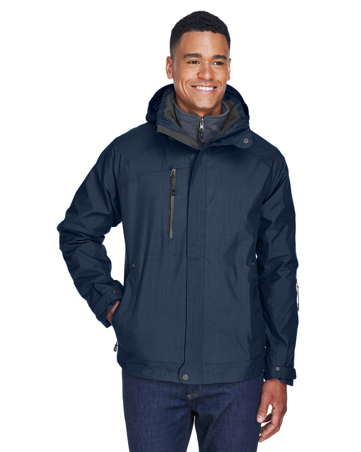 North End Men's Caprice 3-in-1 Jacket with Soft Shell Liner CLASSIC NAVY