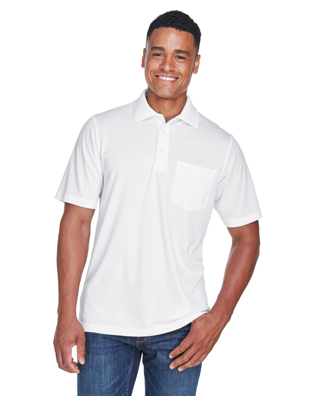 Core 365 Men's Origin Performance Piqué Polo with Pocket WHITE