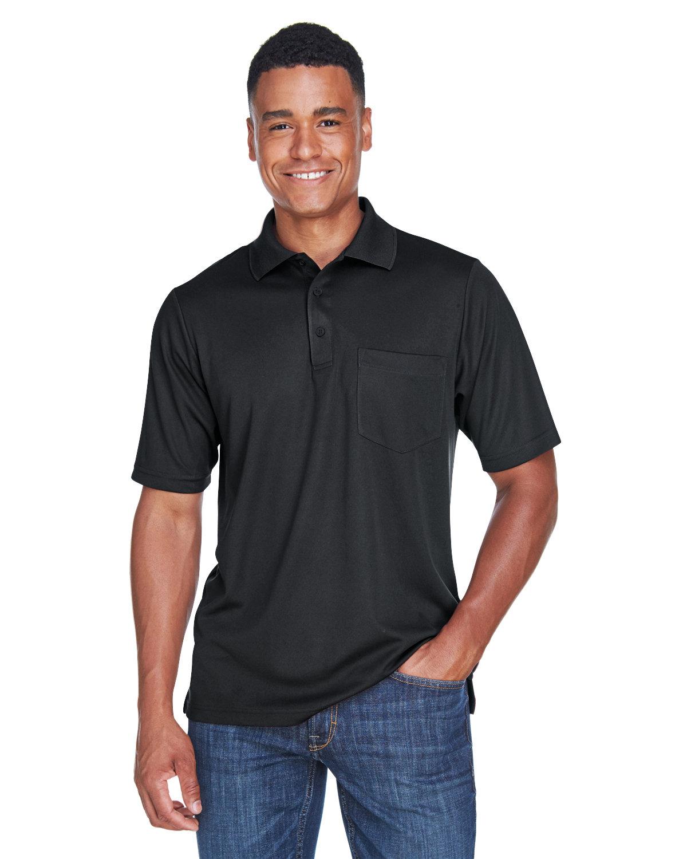 Core 365 Men's Origin Performance Piqué Polo with Pocket BLACK