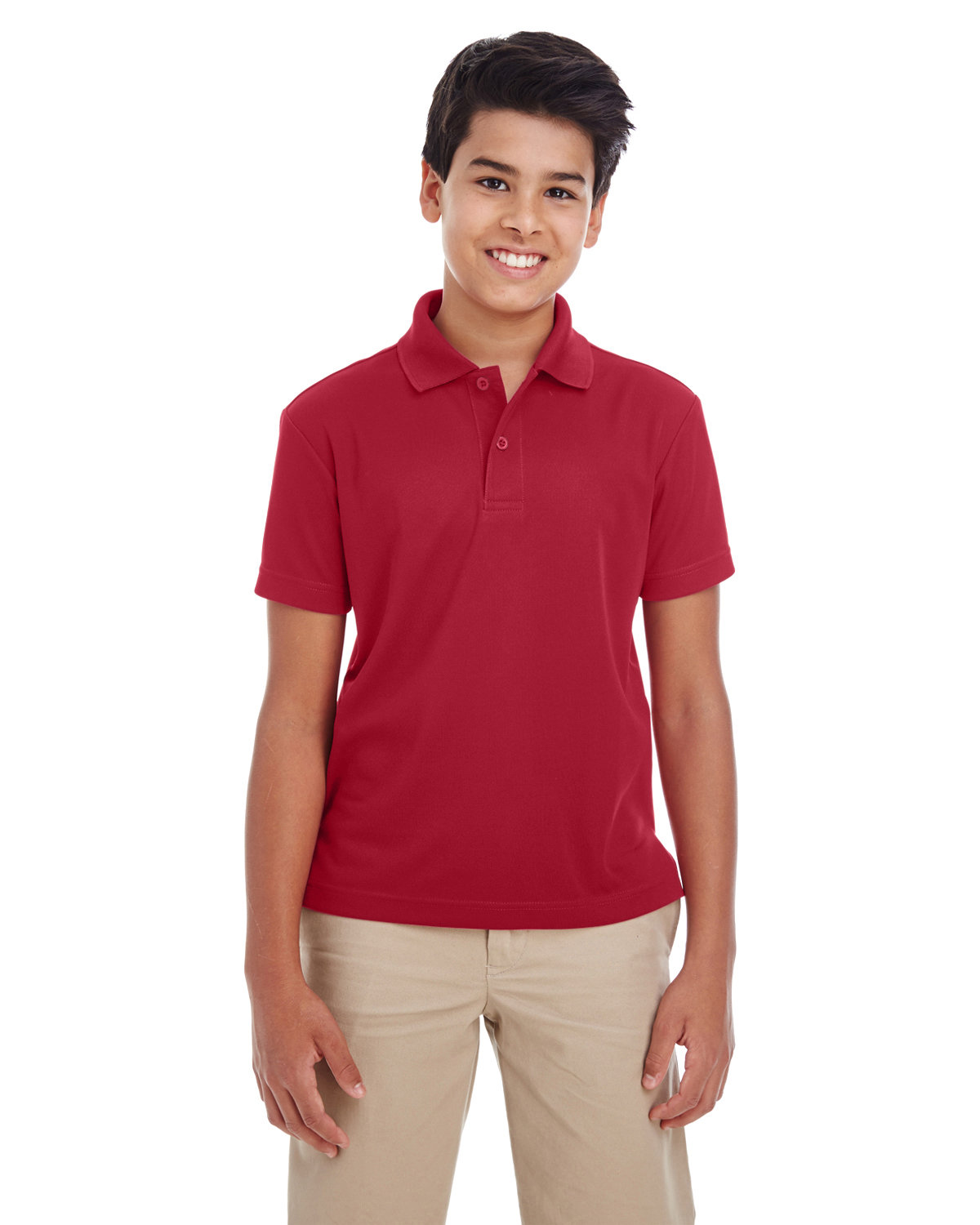 Core 365 Youth Origin Performance Piqué Polo CLASSIC RED