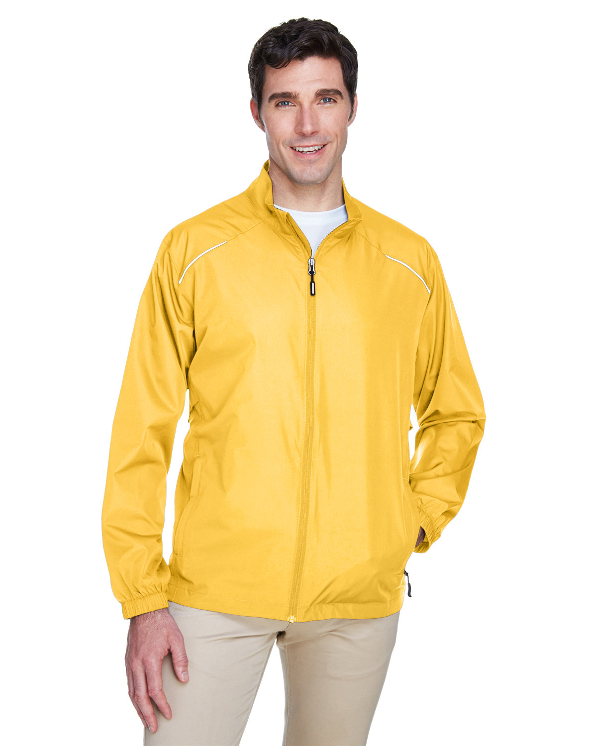 Core 365 Men's Motivate Unlined Lightweight Jacket CAMPUS GOLD
