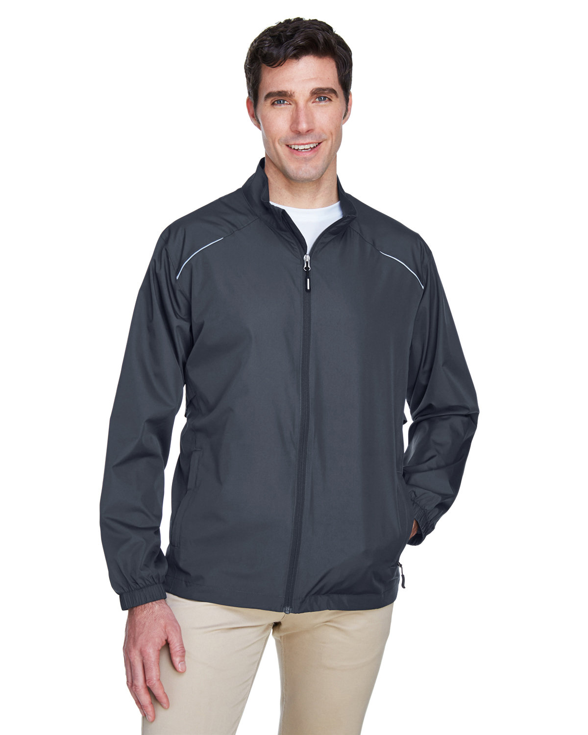 Core 365 Men's Motivate Unlined Lightweight Jacket CARBON