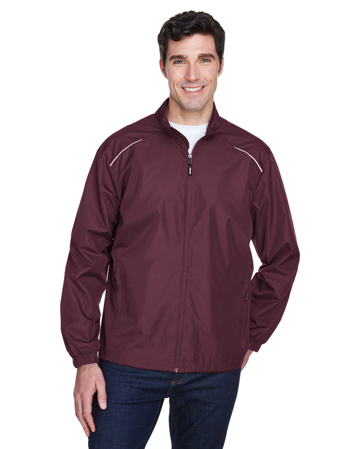 Core 365 Men's Motivate Unlined Lightweight Jacket BURGUNDY