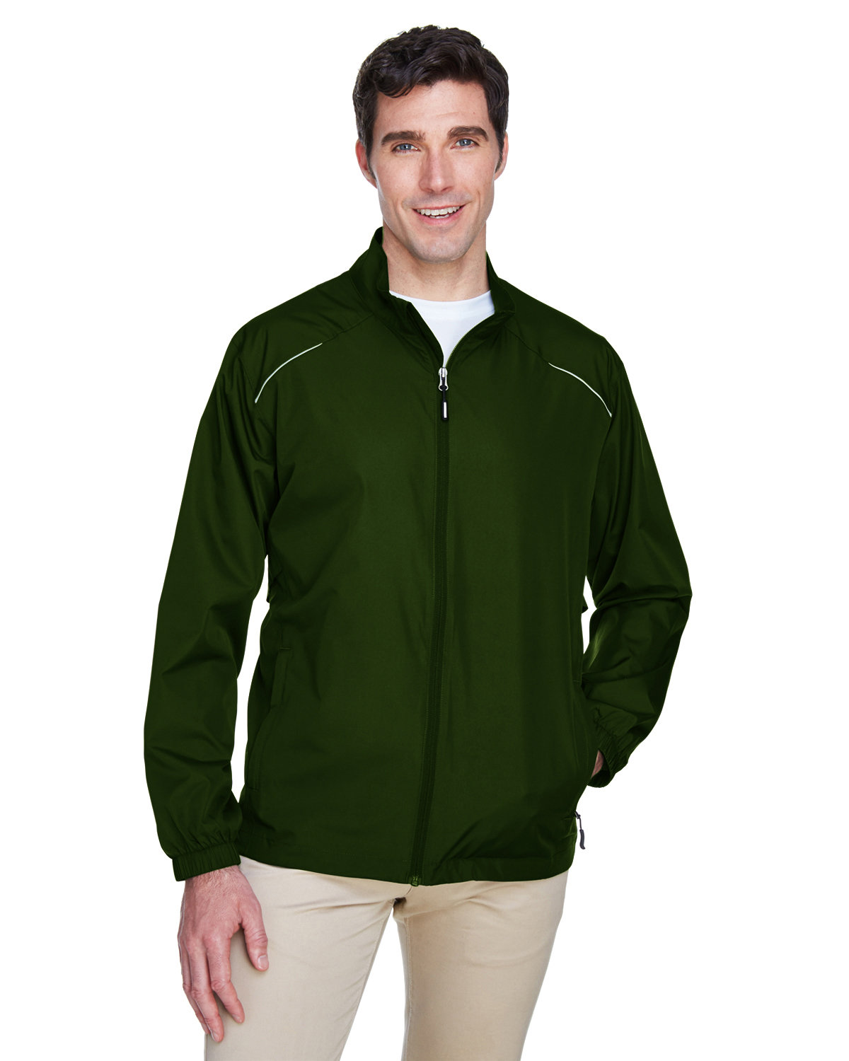 Core 365 Men's Motivate Unlined Lightweight Jacket FOREST