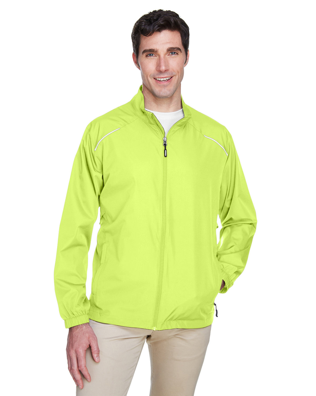 Core 365 Men's Motivate Unlined Lightweight Jacket SAFETY YELLOW