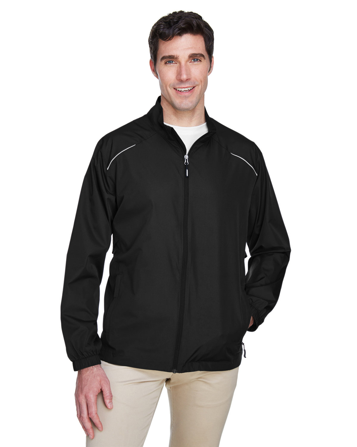 Core 365 Men's Motivate Unlined Lightweight Jacket BLACK