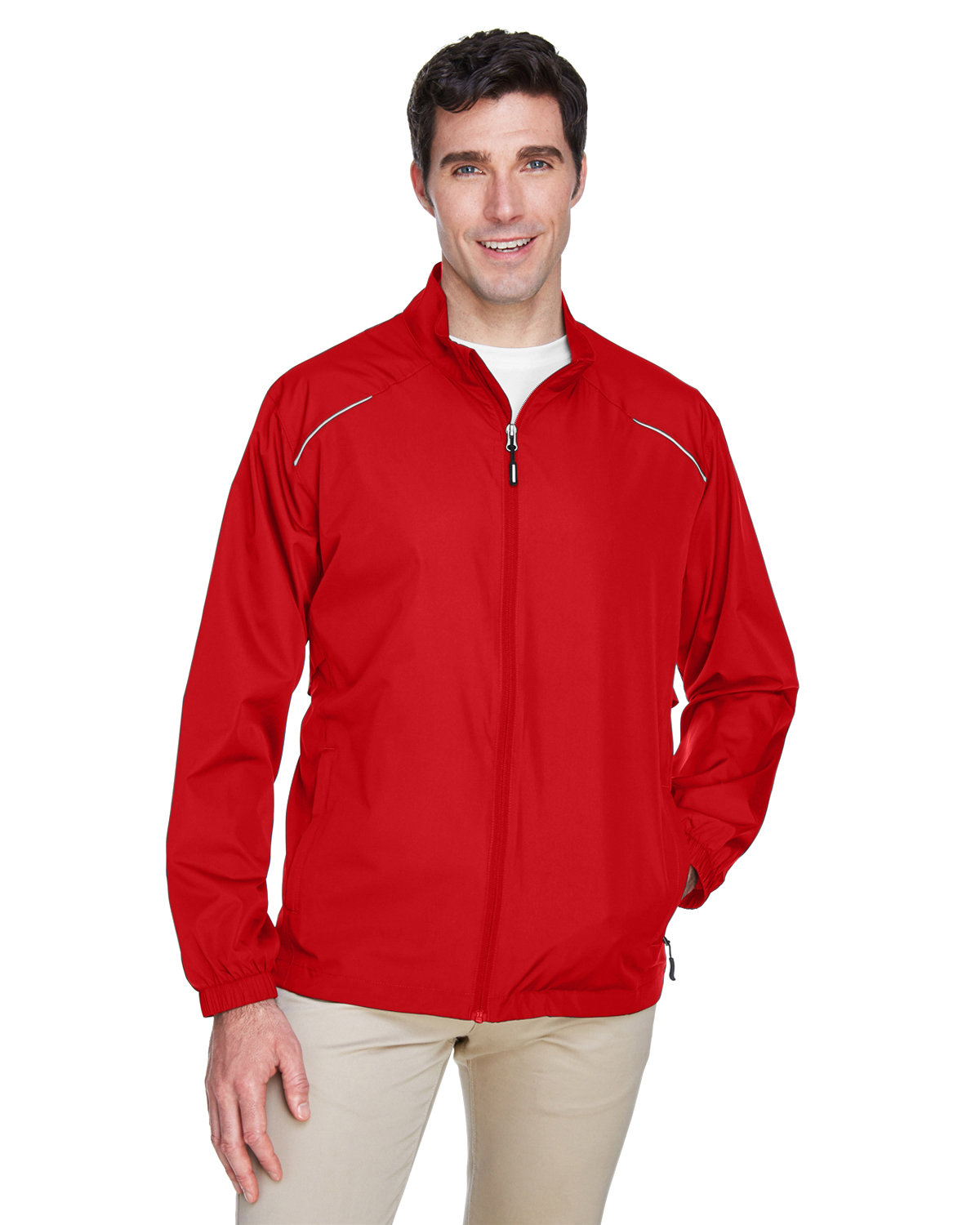 Core 365 Men's Motivate Unlined Lightweight Jacket CLASSIC RED