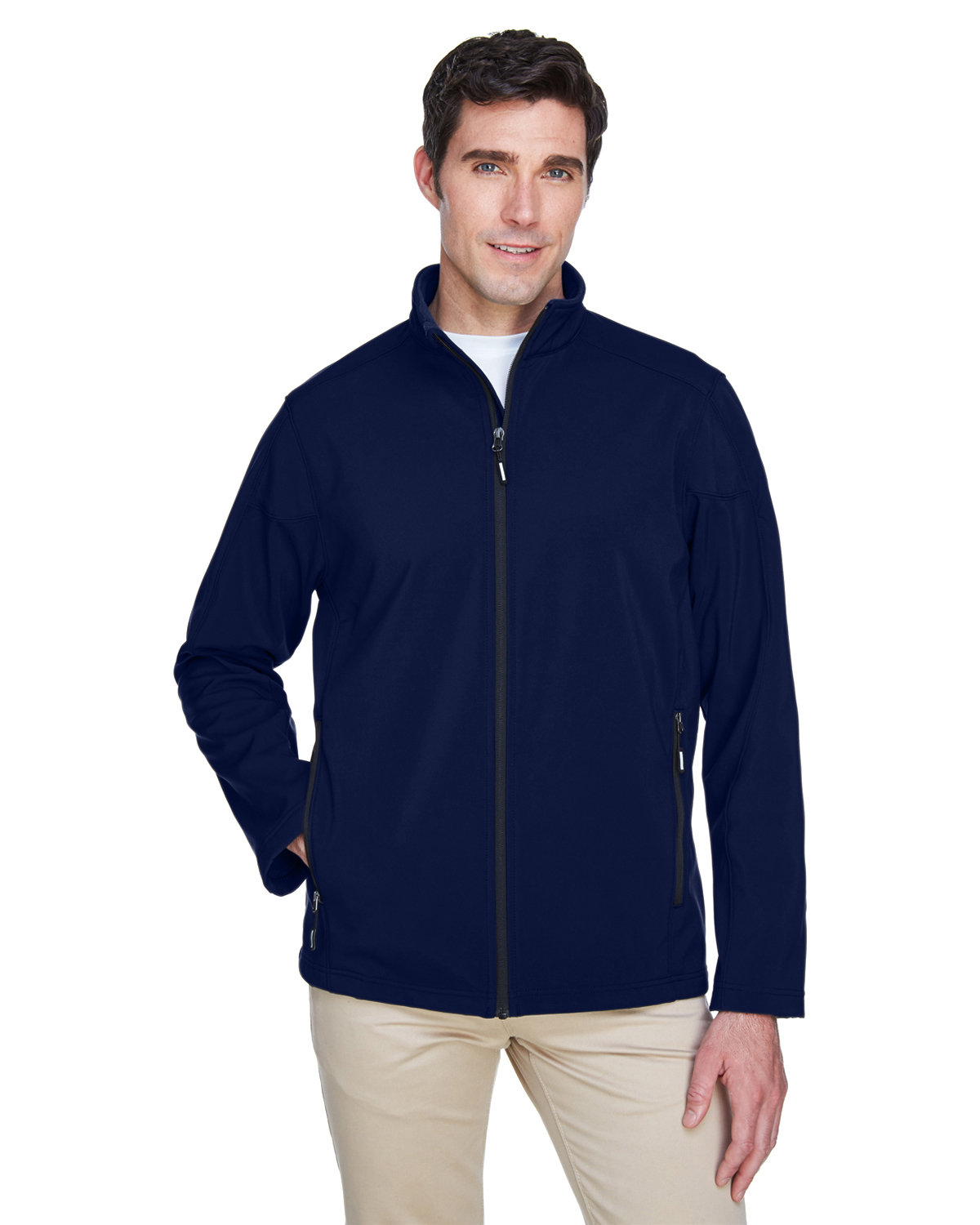 Core 365 Men's Tall Cruise Two-Layer Fleece Bonded SoftShell Jacket CLASSIC NAVY