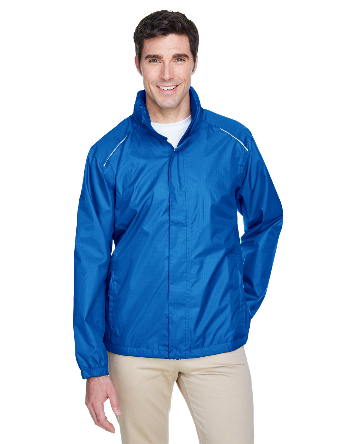 Core 365 Men's Climate Seam-Sealed Lightweight Variegated Ripstop Jacket TRUE ROYAL