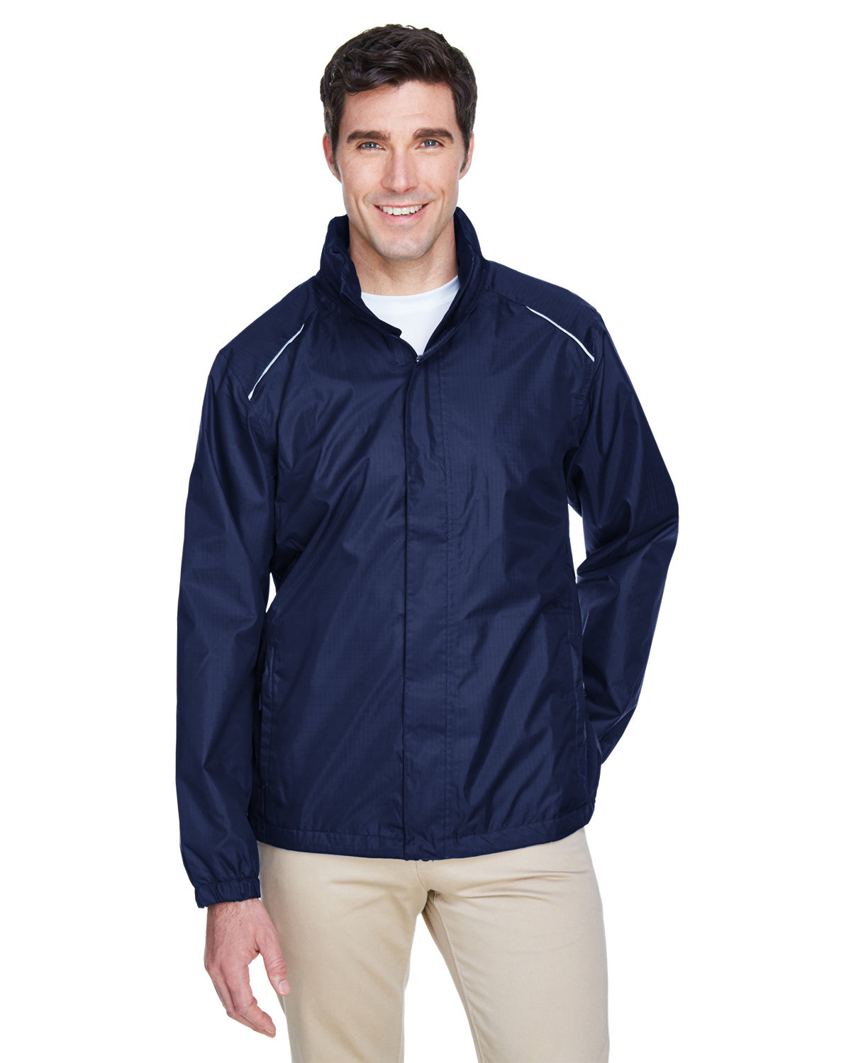 Core 365 Men's Climate Seam-Sealed Lightweight Variegated Ripstop Jacket CLASSIC NAVY