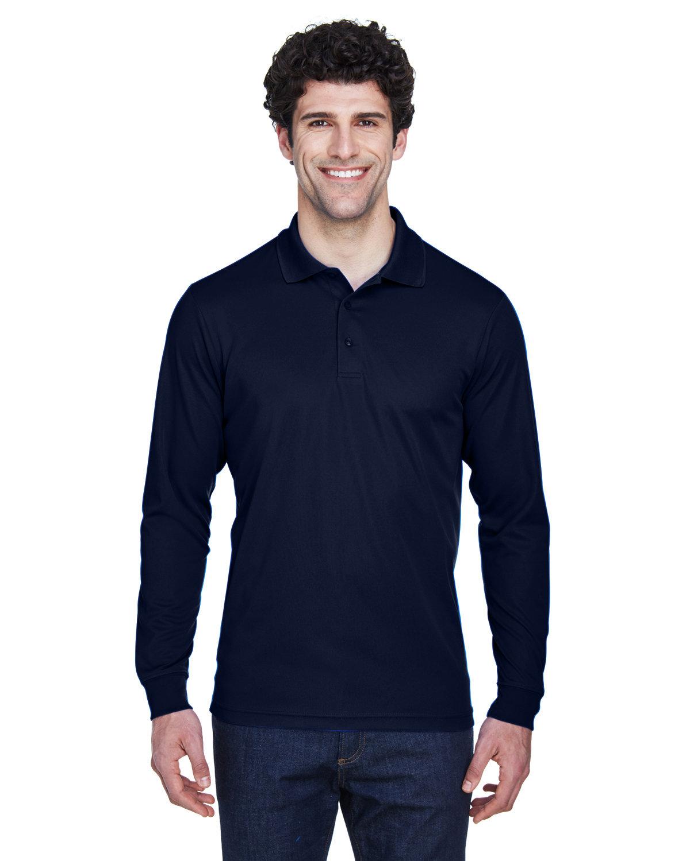 Core 365 Men's Pinnacle Performance Long-Sleeve Piqué Polo CLASSIC NAVY