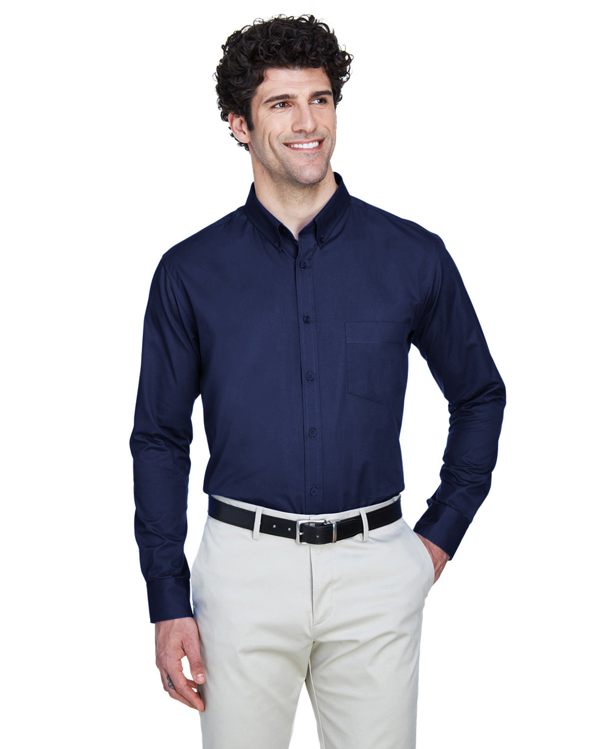 Core 365 Men's Operate Long-Sleeve Twill Shirt CLASSIC NAVY