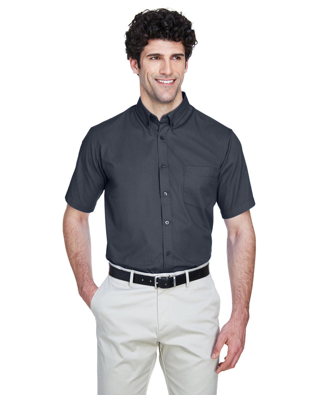 Core 365 Men's Optimum Short-Sleeve Twill Shirt CARBON