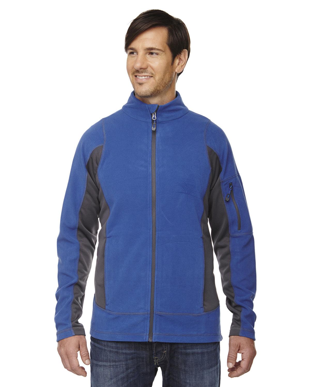 North End Men's Generate Textured Fleece Jacket NAUTICAL BLUE