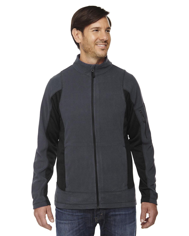 North End Men's Generate Textured Fleece Jacket CARBON