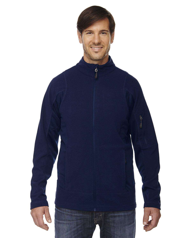 North End Men's Generate Textured Fleece Jacket NIGHT