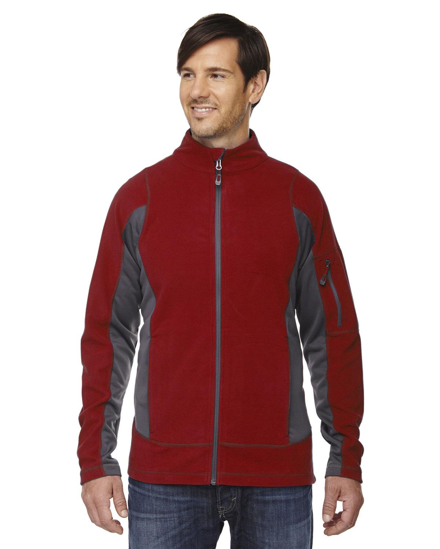 North End Men's Generate Textured Fleece Jacket CLASSIC RED