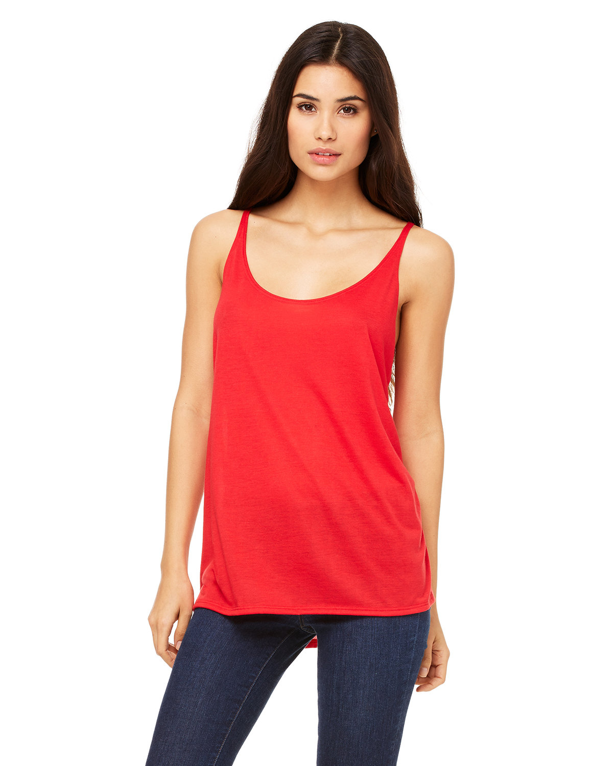 Bella + Canvas Ladies' Slouchy Tank RED