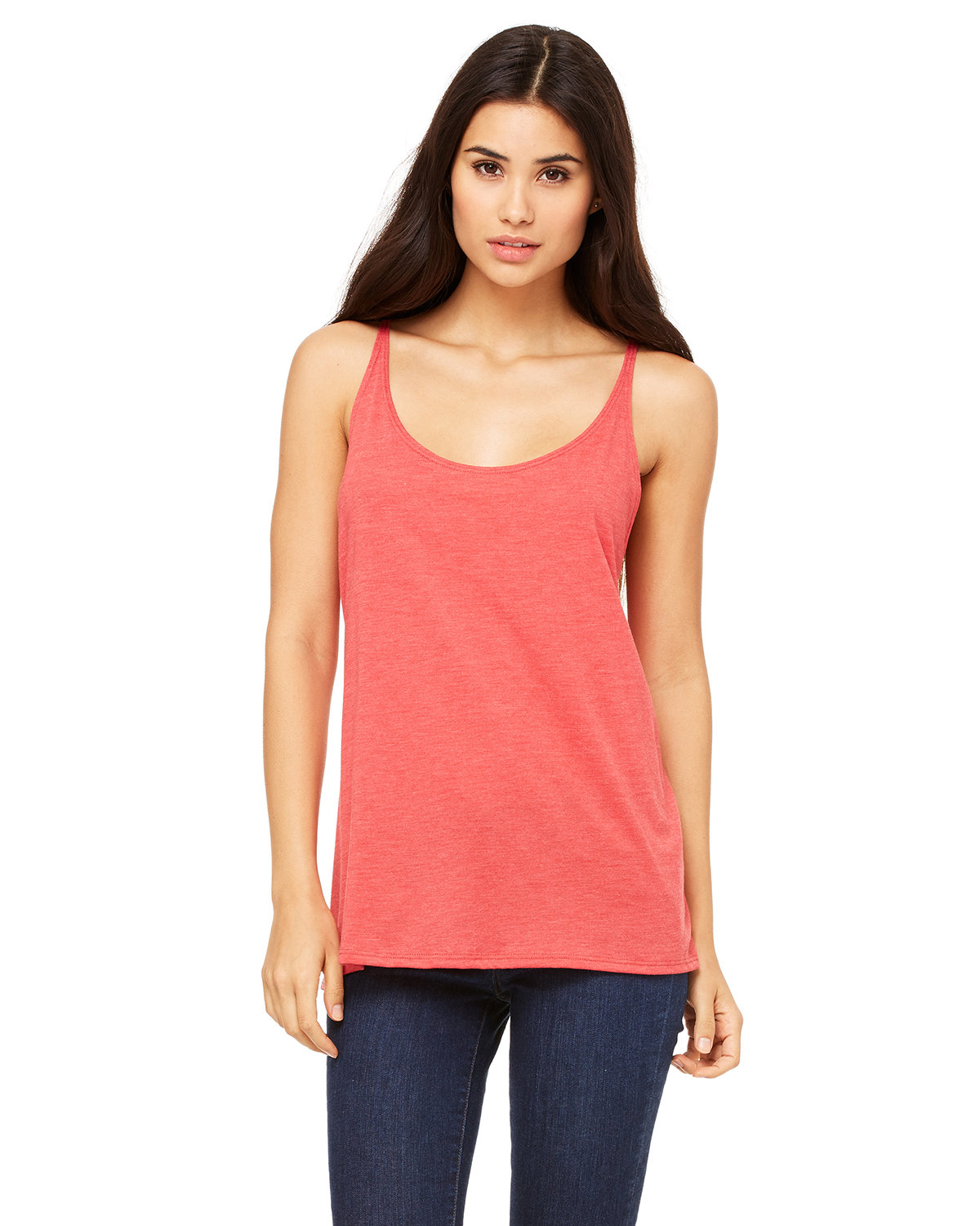 Bella + Canvas Ladies' Slouchy Tank RED TRIBLEND