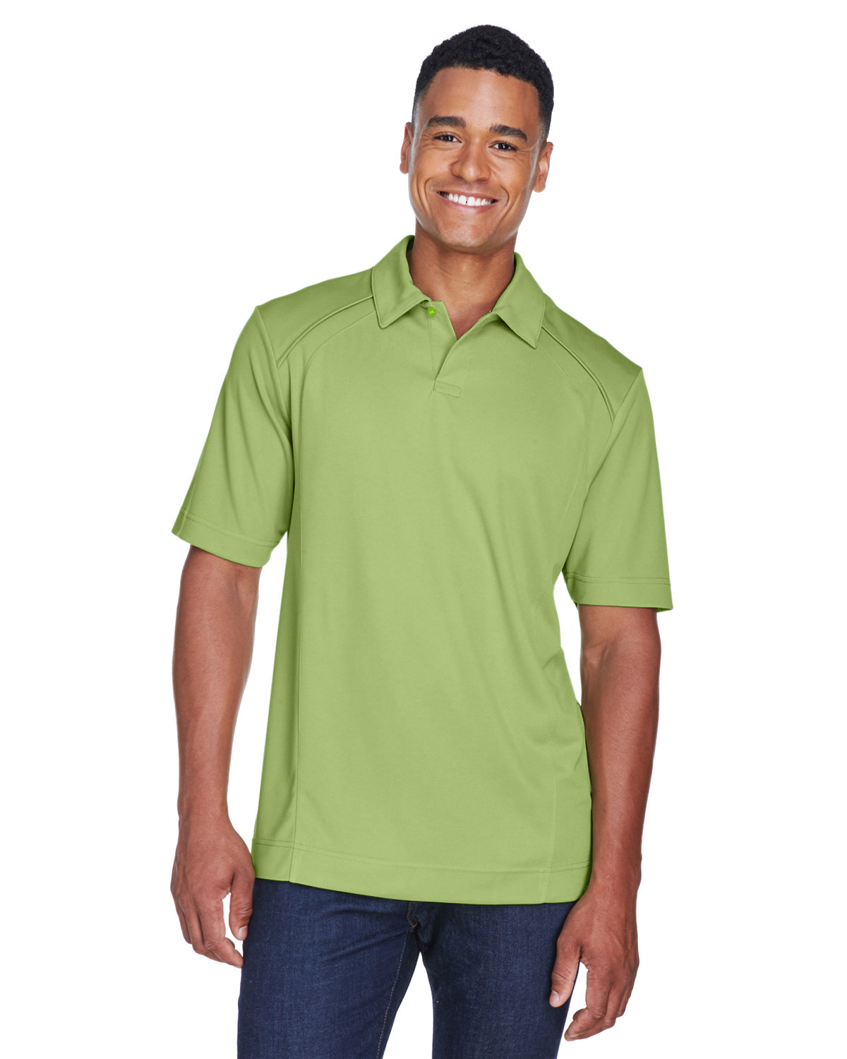 North End Men's Recycled Polyester Performance Piqué Polo CACTUS GREEN