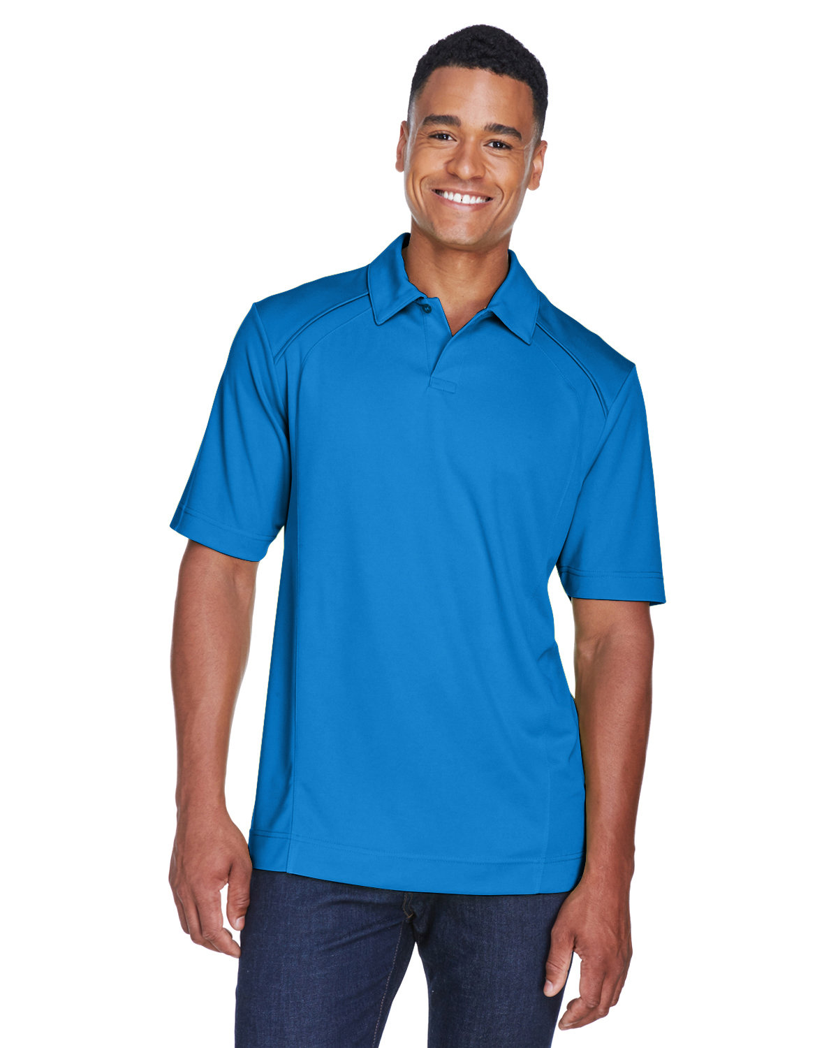 North End Men's Recycled Polyester Performance Piqué Polo LT NAUTICAL BLU