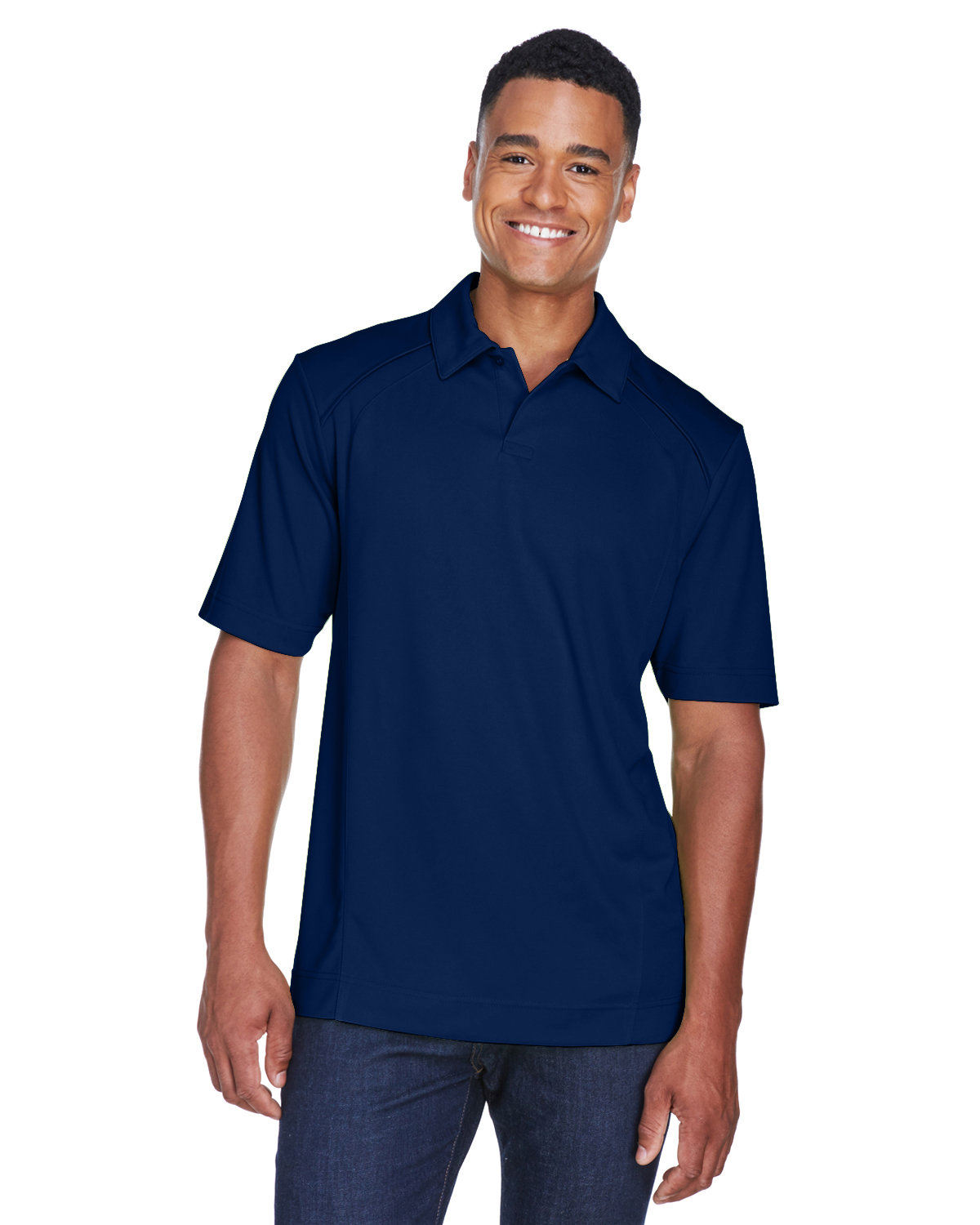 North End Men's Recycled Polyester Performance Piqué Polo NIGHT