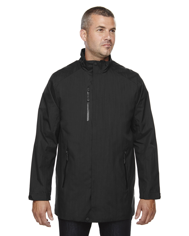 North End Men's Metropolitan Lightweight City Length Jacket BLACK