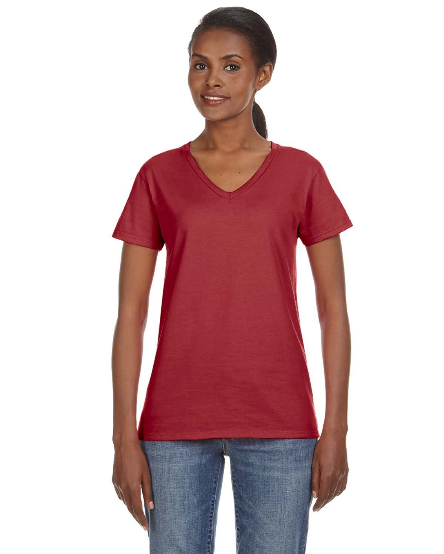 Anvil Ladies' Lightweight V-Neck T-Shirt INDEPENDENCE RED