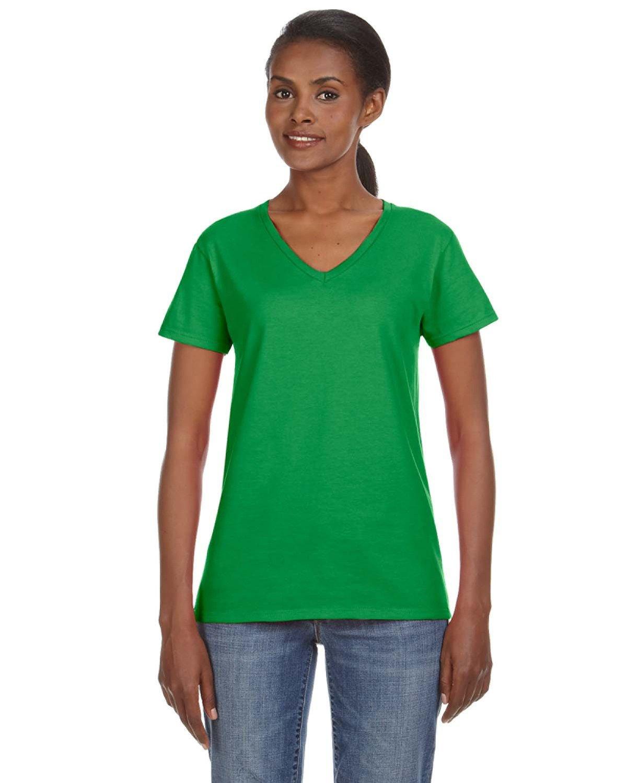 Anvil Ladies' Lightweight V-Neck T-Shirt GREEN APPLE