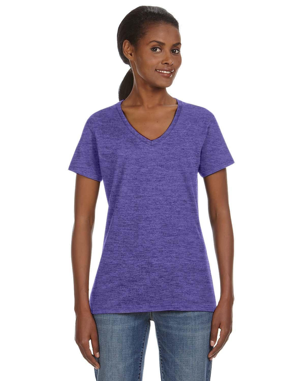 Anvil Ladies' Lightweight V-Neck T-Shirt HEATHER PURPLE