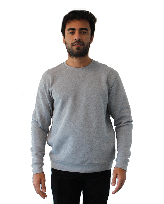 Next Level Unisex Malibu Pullover Sweatshirt HEATHER GRAY