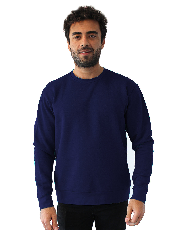 Next Level Unisex Malibu Pullover Sweatshirt HTHR MIDNITE NVY