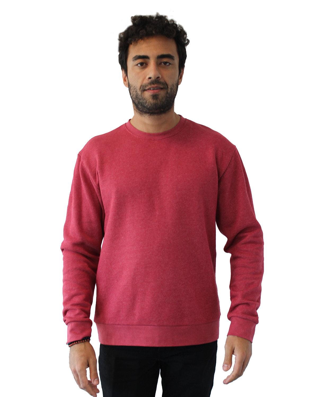 Next Level Unisex Malibu Pullover Sweatshirt HEATHER CARDINAL
