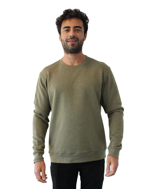 Next Level Unisex Malibu Pullover Sweatshirt HTHR MILITRY GRN