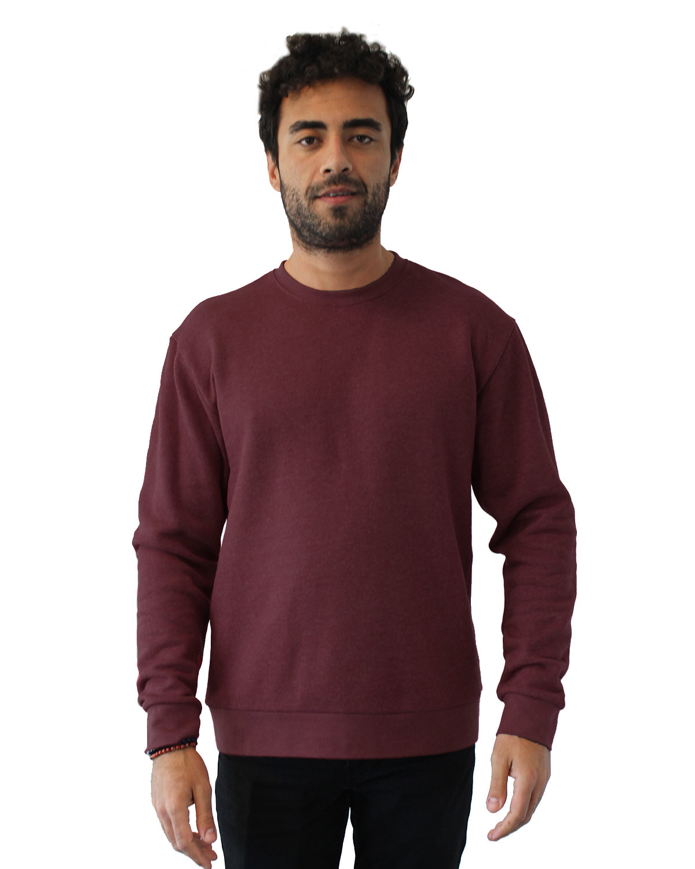 Next Level Unisex Malibu Pullover Sweatshirt HEATHER MAROON