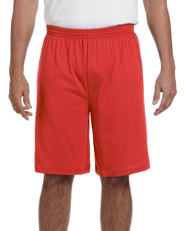 Augusta Sportswear Adult Longer-Length Jersey Short RED