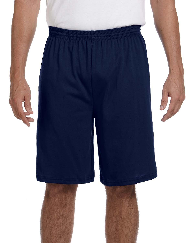 Augusta Sportswear Adult Longer-Length Jersey Short NAVY
