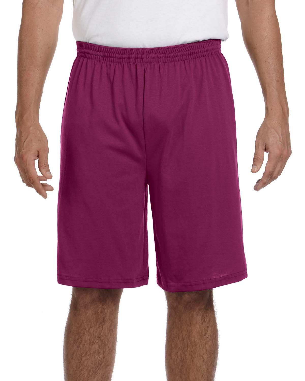 Augusta Sportswear Adult Longer-Length Jersey Short MAROON