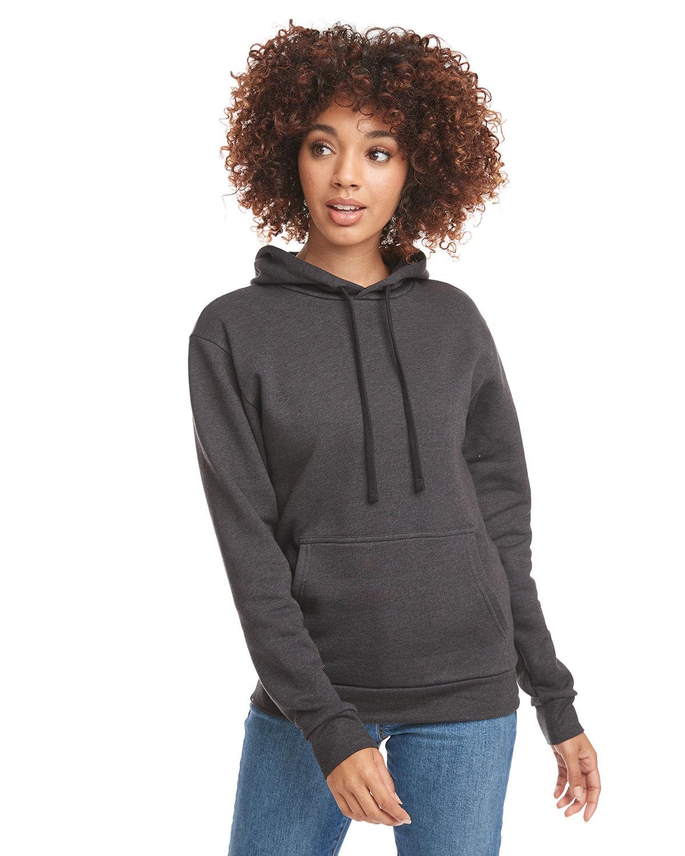 Next Level Unisex Malibu Pullover Hooded Sweatshirt HEATHER BLACK