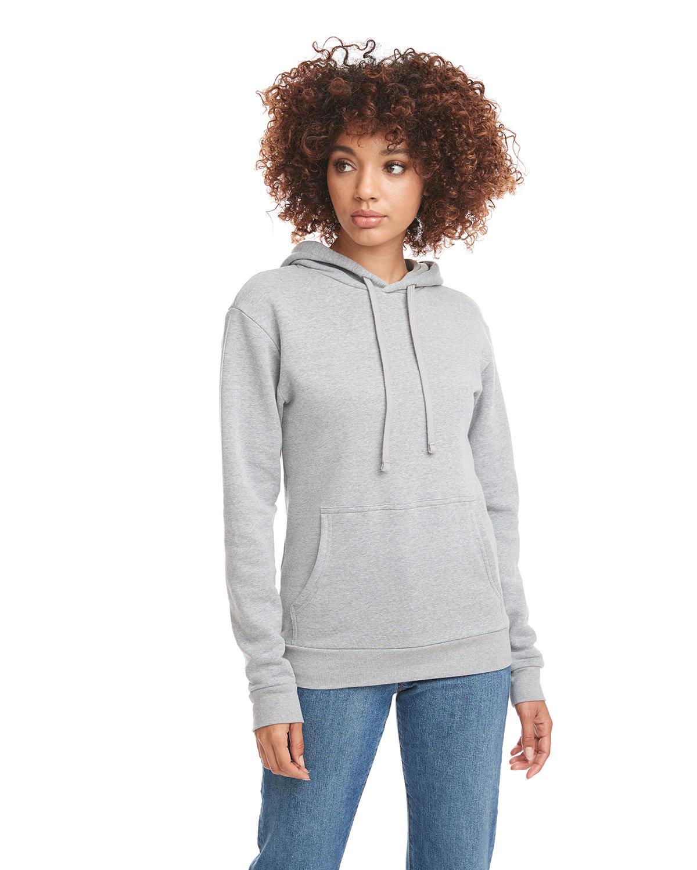 Next Level Unisex Malibu Pullover Hooded Sweatshirt HEATHER GRAY