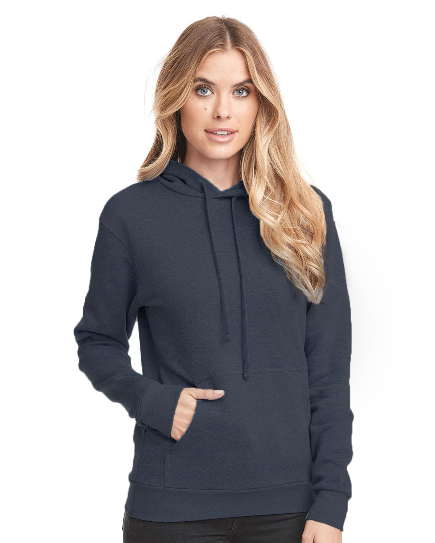 Next Level Unisex Malibu Pullover Hooded Sweatshirt HTHR MIDNITE NVY