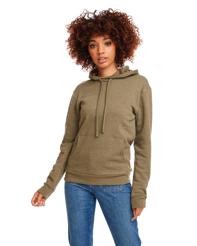 Next Level Unisex Malibu Pullover Hooded Sweatshirt HTHR MILITRY GRN