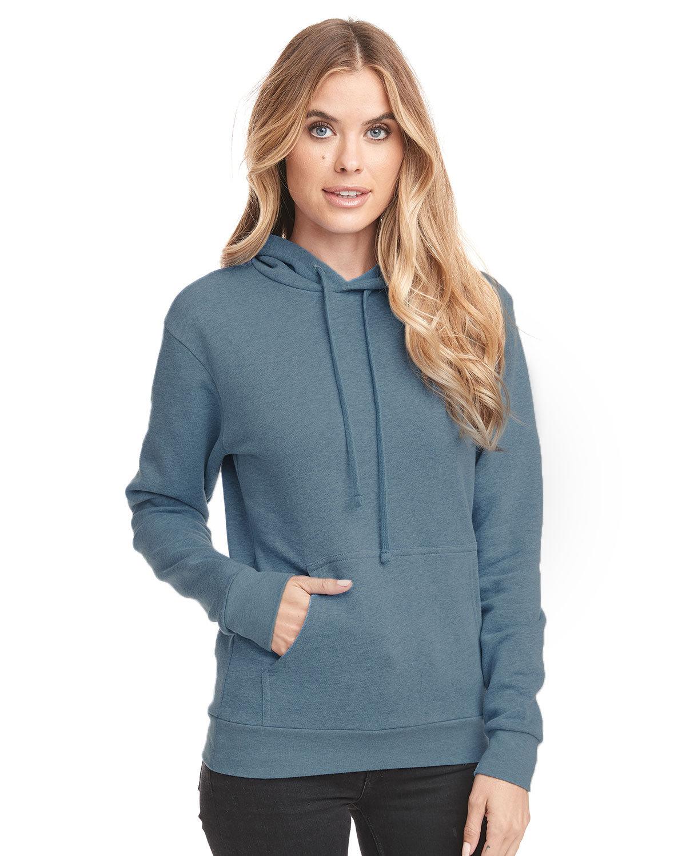 Next Level Unisex Malibu Pullover Hooded Sweatshirt HEATHR SLATE BLU