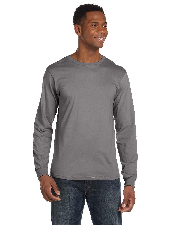 Anvil Adult Lightweight Long-Sleeve T-Shirt STORM GREY