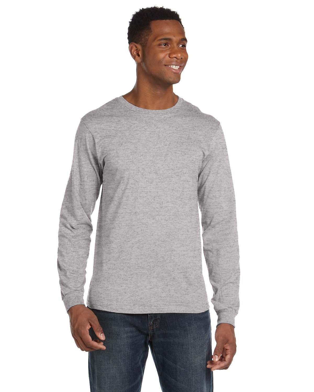 Anvil Adult Lightweight Long-Sleeve T-Shirt HEATHER GREY