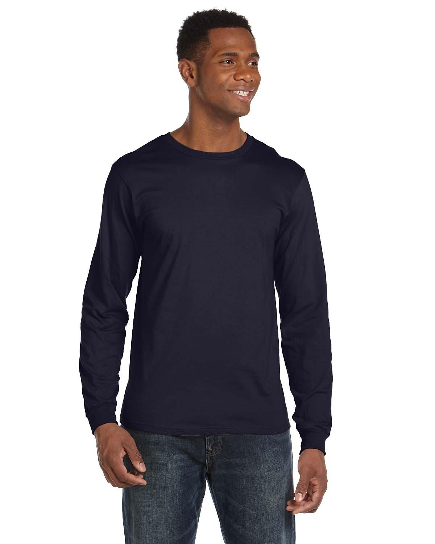 Anvil Adult Lightweight Long-Sleeve T-Shirt NAVY