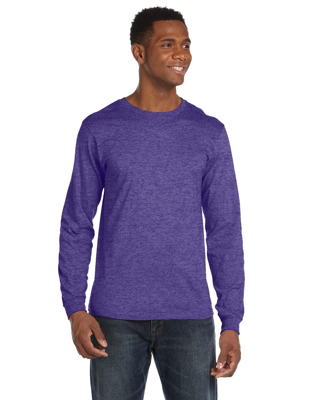 Anvil Adult Lightweight Long-Sleeve T-Shirt HEATHER PURPLE