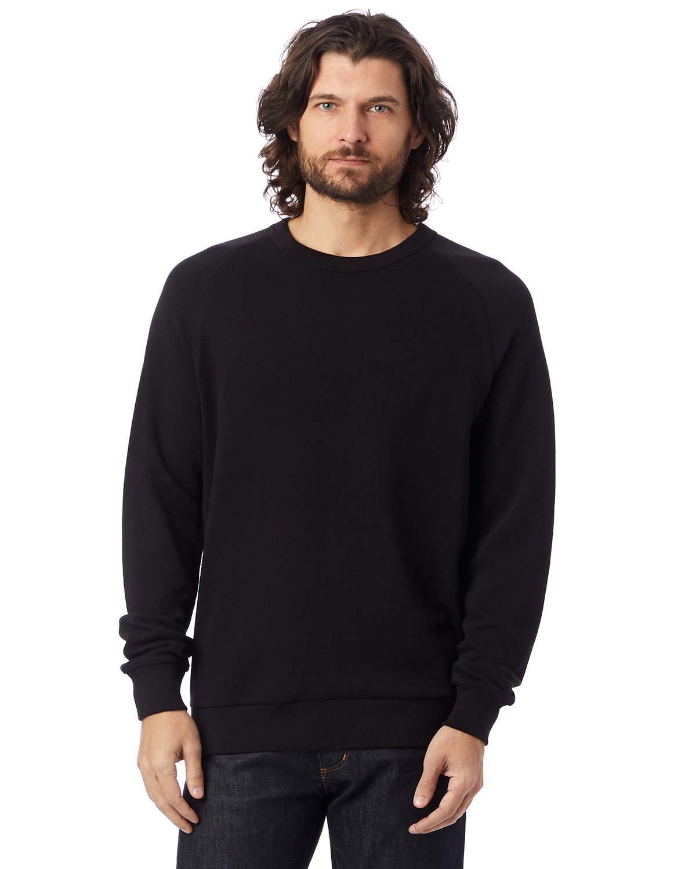 Alternative Unisex 6.5 oz., Champ Washed French Terry Crewneck Sweatshirt BLACK