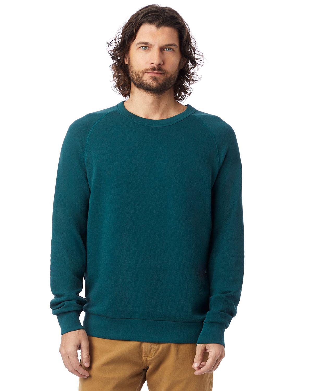 Alternative Unisex 6.5 oz., Champ Washed French Terry Crewneck Sweatshirt DARK TEAL